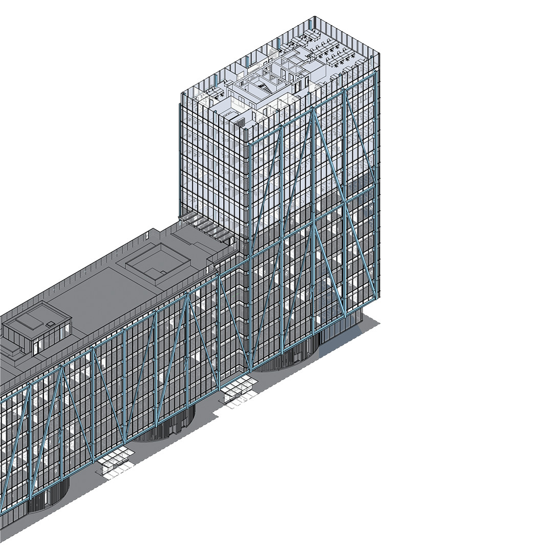 Diagram of the building